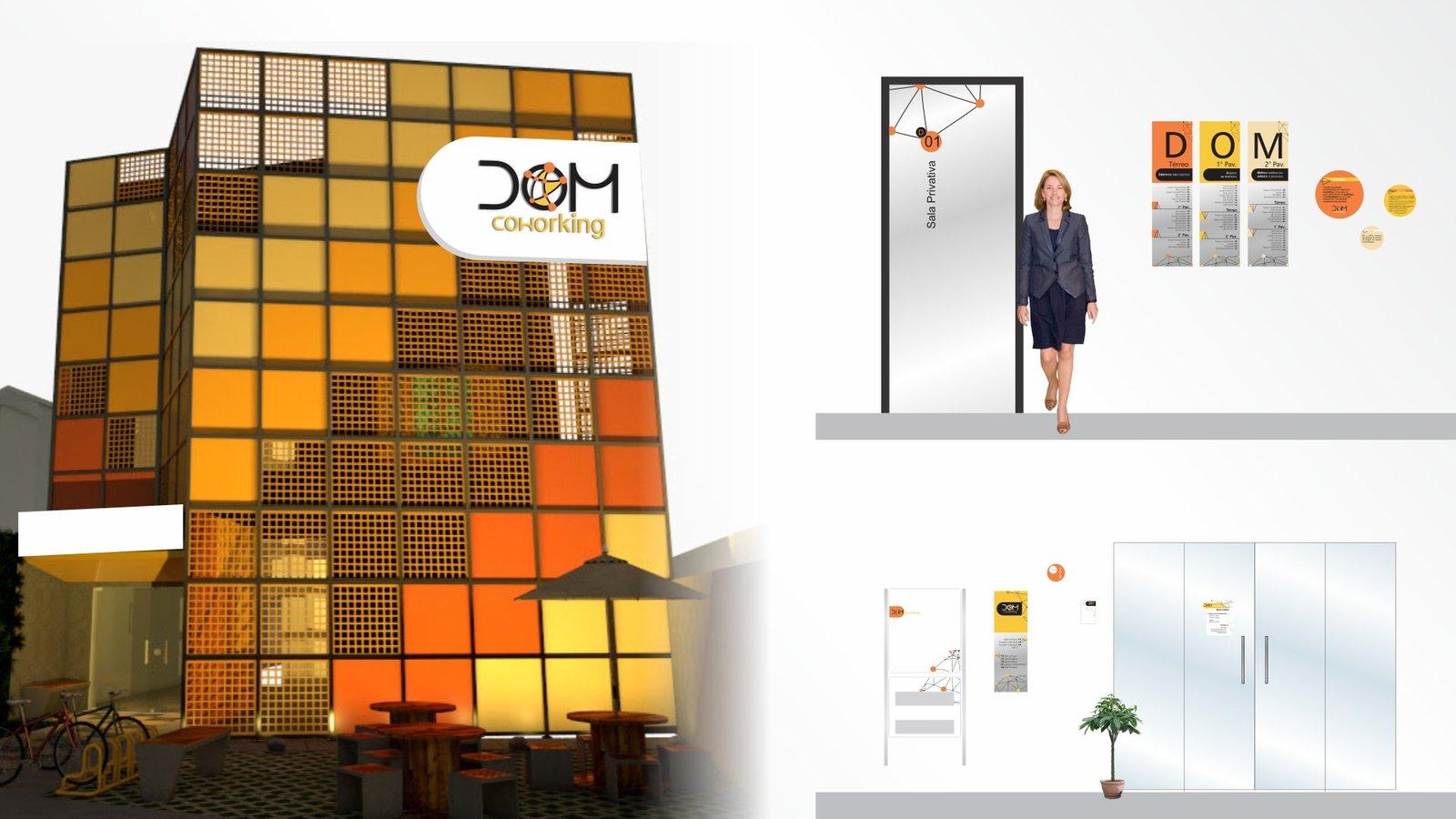 MLMS Sinalização Arquitetônica - Dom Coworking