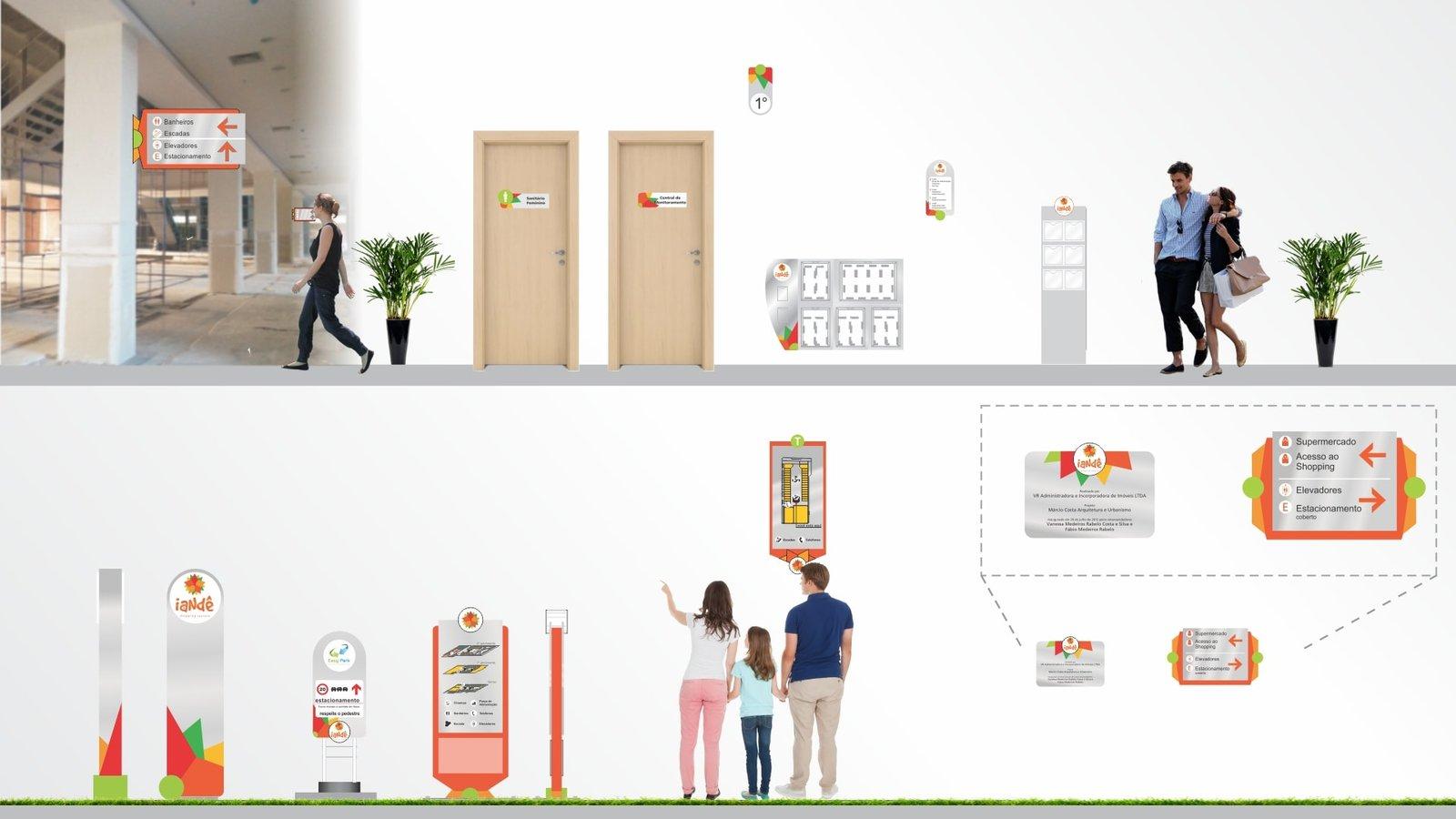 MLMS Sinalização Arquitetônica - Shopping Iandê
